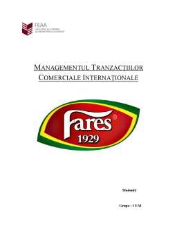 Proiect - Managementul Tranzacțiilor Comerciale Internaționale