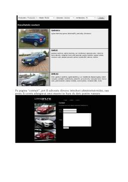Proiect - CarsOnline - Proiectarea Aplicatiilor Web