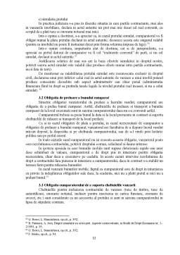 Referat - Efectele Contractului de Vanzare-Cumparare