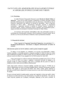 Referat - Proiecte Publice - Primaria Municipiului Bucuresti