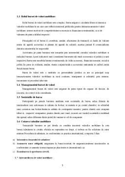Curs - Bursa de Valori Mobiliare