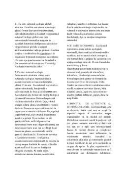 Notiță - Ecotoxicologie