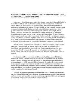 Seminar - Coordonatele Reglementarilor privind Piata Unica Europeana a Asigurarilor