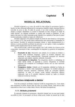 Curs - Model Relational