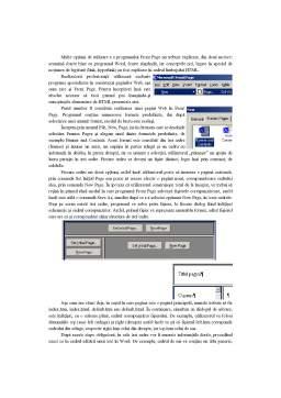 Referat - Realizarea Paginilor Web