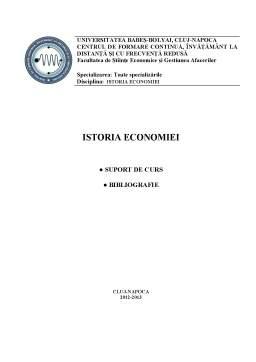 Curs - Istoria Economiei