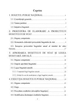 Licență - Bugetul Public Național