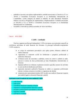 Curs - Audit Financiar