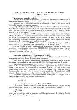 Curs - Traductoare de Mărimi Electrice - Dispozitive de Măsurat Electromecanice