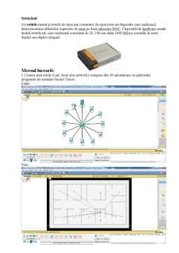 Laborator - Proiectarea unei Rețele Lan de 10 Hosturi cu Servere