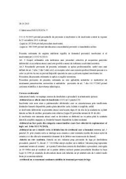 Curs - Procedura Insolventei