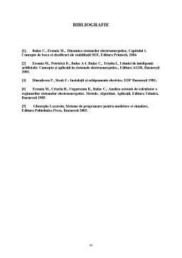 Licență - Stabilitatea la Mici Perturbații și Tranzitorie a Sistemelor Electroenergetice