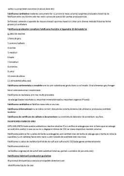 Notiță - Falsificarea Produselor Alimentare