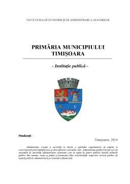 Referat - Primăria Municipiului Timișoara