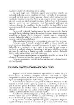 Curs - Operațioalizarea Activității Firmei prin Bugete