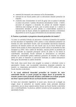 Curs - Dosarul Preturilor de Transfer - Intrebari si Raspunsuri Practice