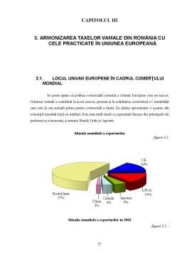 Referat - Considerații Teoretice și Practice Privind Taxele Vamale în Condițiile Aderării României la Uniunea Europeană