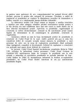 Referat - Constitutionalitatea Dispozitiilor din Codul Penal cu Privire la Infractiunile de Prostitutie, Cersetorie si Vagabondaj