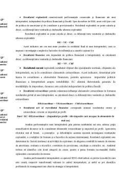 Curs - Analiza Performanțelor Financiare pe Baza Soldurilor Intermediare de Gestiune