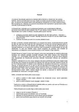Seminar - Auditul Sistemelor Informatice - Firewall