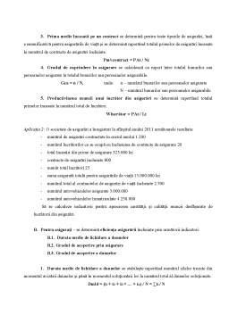 Seminar - Indicatorii Privind Eficiența Activității de Asigurare
