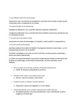 Notiță - Grila Monitoring Ecologic