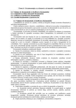Curs - Documentația ca element a al metodei contabilitatii