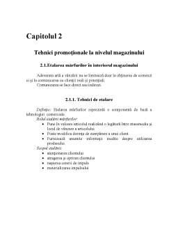 Referat - Tehnici Promoționale