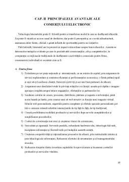 Referat - Rolul si avantajele comertului electronic (online)