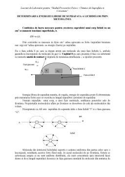 Laborator - Procese fizico-chimice de suprafață