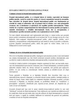 Curs - Izvoarele dreptului internațional public
