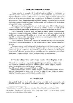 Proiect - Accizele în România și armonizarea acestora cu reglementările europene în materie