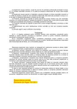 Curs - Raspunderea juridica in dreptul mediului