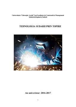 Proiect - Tehnologia sudarii prin topire