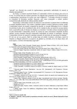 Curs - Notiunea, natura juridica si importanta contractului colectiv de munca