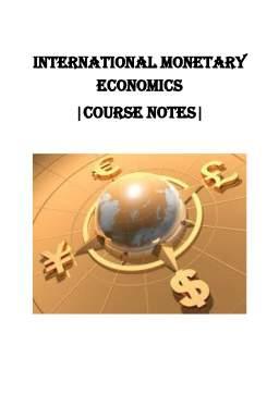 Curs - International monetary economics