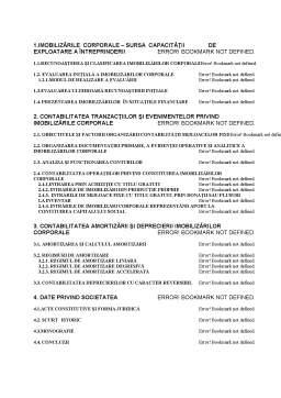 Licență - Contabilitatea imobilizărilor corporale