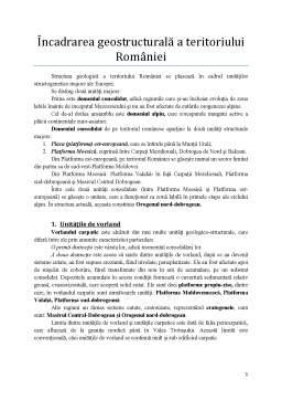 Curs - Încadrarea geostructurală a teritoriului României