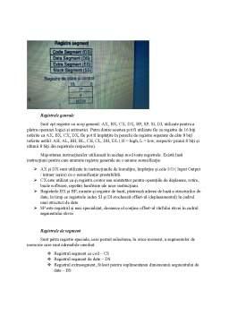 Curs - Arhitectura sistemelor de calcul - Arhitectura de baza, Setul de registre