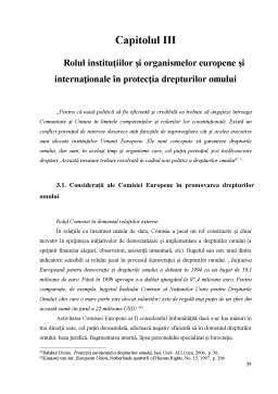 Disertație - Sistemul de protectie a drepturilor omului in plan european si international