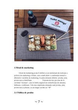 Proiect - Analiza activității de marketing în cadrul firmei Sushi Master Brașov