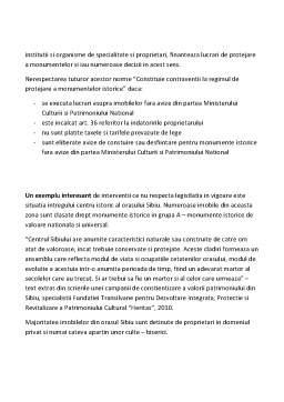 Referat - Sinteza legilor privind protejarea patrimoniului cultural national si a monumentelor istorice
