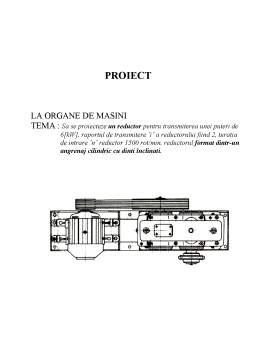 Proiect - Organe de Masini Proiectare Reductor