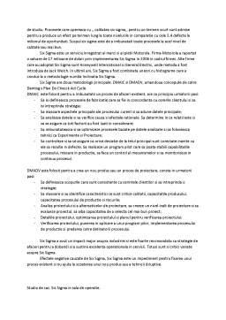 Curs - Prezentare managementul desfacerii - Metoda Six Sigma