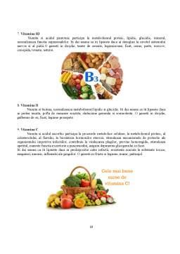 Proiect - Importanța vitaminelor în organism