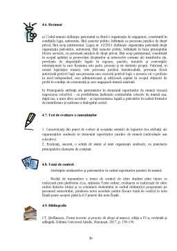 Curs - Dreptul muncii - Relațiile colective de muncă
