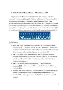 Proiect - Raport practică - Moldtelecom SA