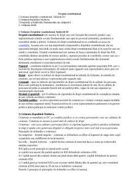 Referat - Dreptul constituțional
