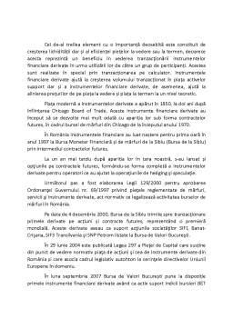 Seminar - Evoluția pieței instrumentelor financiare derivate din România