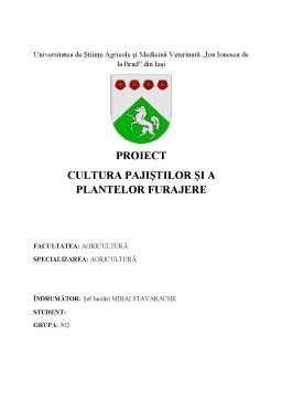 Proiect - Cultura pajiștilor și a plantelor furajere